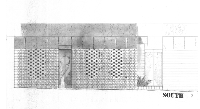 4 Brick Facade Study 750x500mm